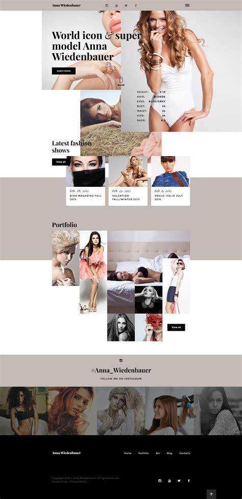 Model Portfolio Website Template Modeling Website Templates Free