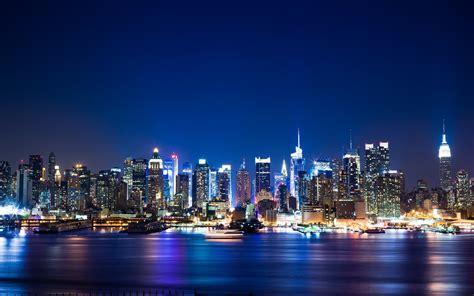 manhattan night in new york city 4k wallpapers cityscapes night new york city manhattan