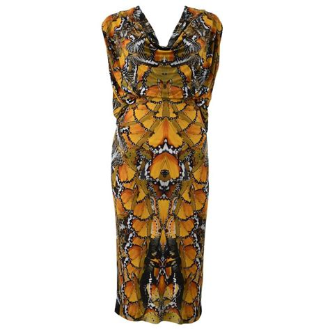 Mcqueen Butterfly Gown by Mcqueen Butterfly Print Dress S S 2011 At 1stdibs