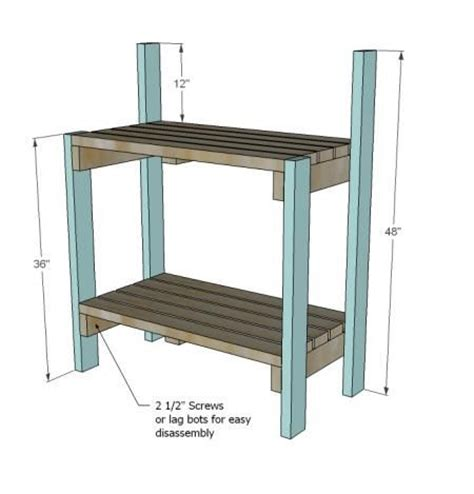 ana white work bench ana white build a simple potting bench free and easy