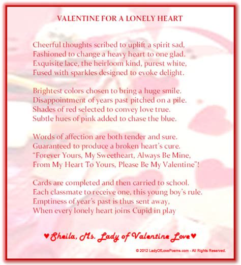 valentines poem for 12 s day poems