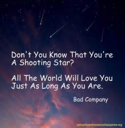 Famous People Who Are Blind Shooting Star Quotes And Sayings Quotesgram