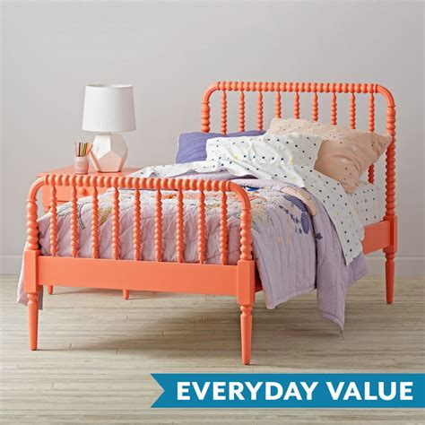 lind crib mattress size coral lind bed the land of nod