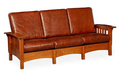 mission style couch amish slat arm mission morris sofa
