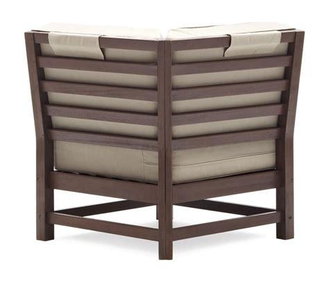strathwood patio furniture strathwood hardwood sectional corner