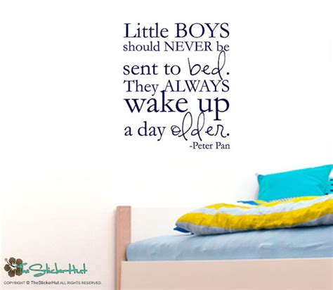 little boys should never be sent to bed little boys should never be sent to bed peter pan nursery or