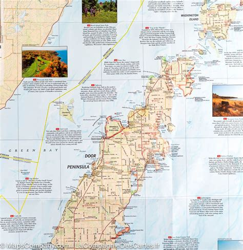 map of wisconsin s door peninsula national geographic
