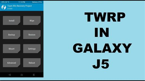 Custom Samsung J5 2015 how to install custom recovery twrp in samsung galaxy j5