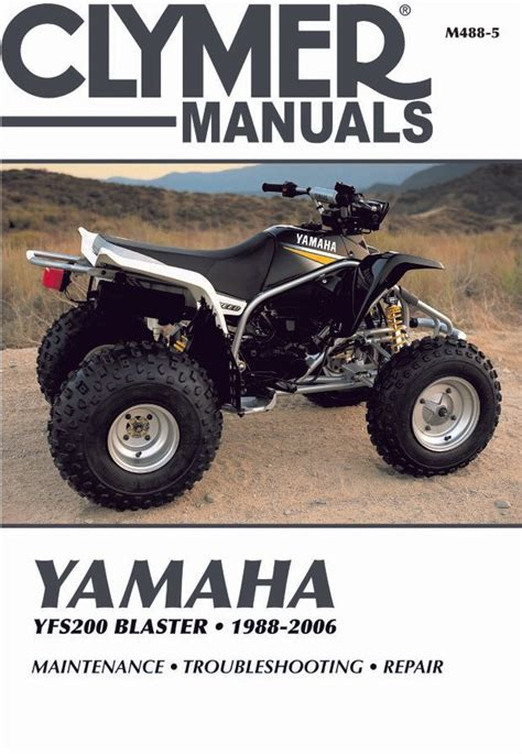 Yamaha Yfs200 Blaster Atv Repair Manual 1988 2006 Clymer