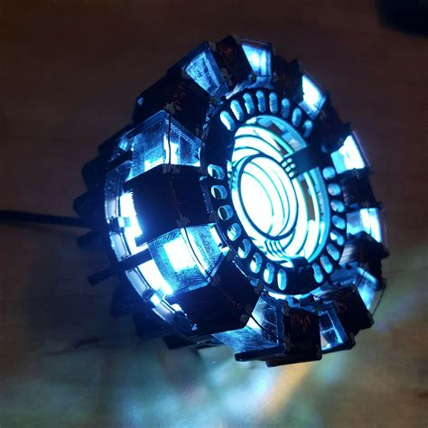 marvel avengers iron man tony diy arc reactor lamp kit