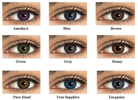 different color contacts contact lenses of 17 different colors without powers