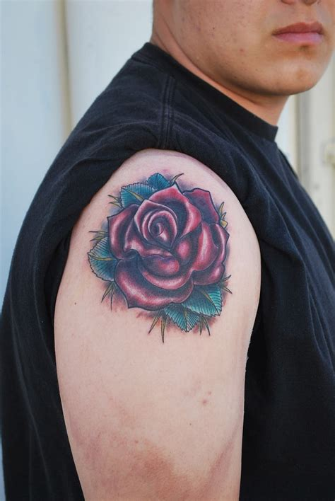 rose tattoo on guys tattoos designs ideas and meaning tattoos for you