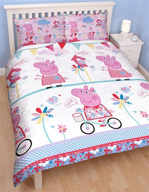 Peppa Pig Bed Set Duvet Peppa Pig Tweet Reversible Duvet Quilt Cover Bedding Set Character Ebay