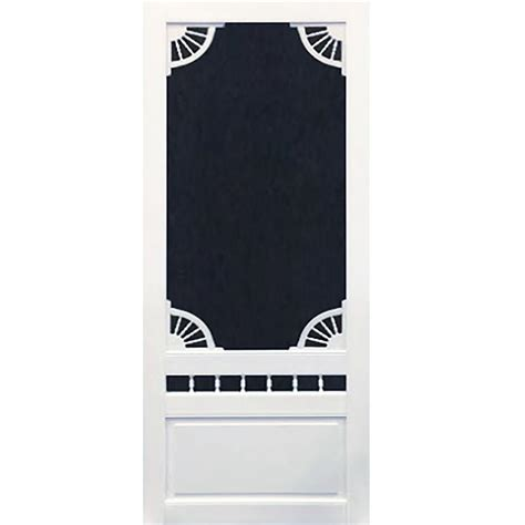 36 X 80 Vinyl Screen Door by Screen Tight 36 In X 80 In Colonial Wood Unfinished