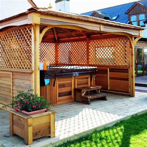 spa gazebo tub enclosures gazebos pvs tubs superstore