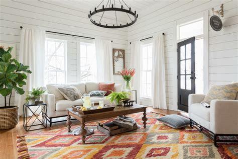 magnolia home  joanna gaines rustic living room