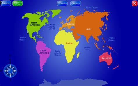 world map with country names capitals map of the world with countries and capitals