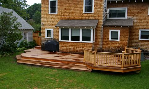 Patio and Deck Designs Outdoor Wood Deck Designs Ideas