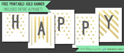 printable gold banner free printable gold banner somewhat simple