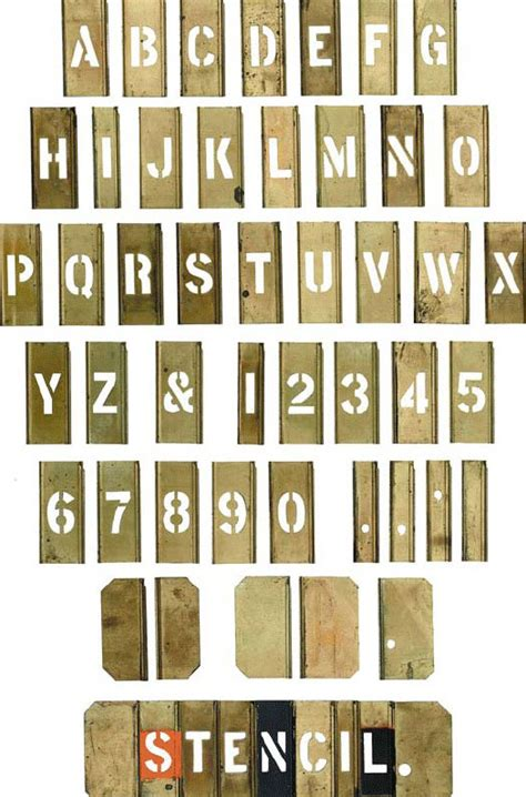 stencil letters the printed picture a survey of the
