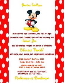 mickey mouse baby shower invitations baby shower themes