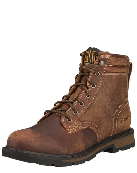 lace up work boots ariat s groundbreaker toe 6 quot lace up work boots