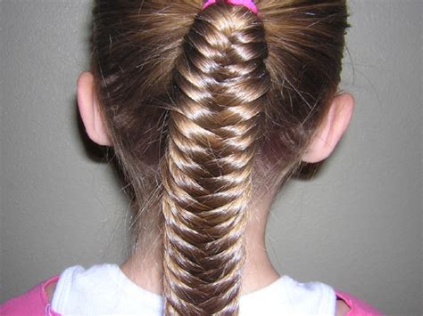 Kids Fishtail Photo With Hair Added | cute long little girls hairstyles for school how to style