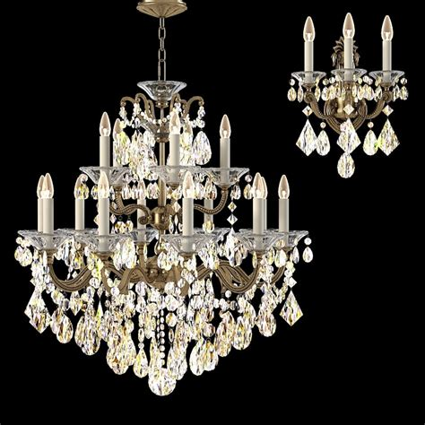 schonbek chandelier schonbek la scala 3d model