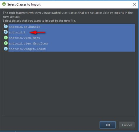 cannot resolve symbol r android studio gradle android studio marks r in with error message