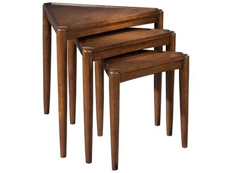 hekman mid century modern walnut nesting tables 951308mw