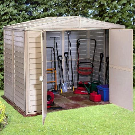Large Plastic Sheds Uk by Duramax Duramate Plastic Shed 8ft X 10ft Elbec Garden