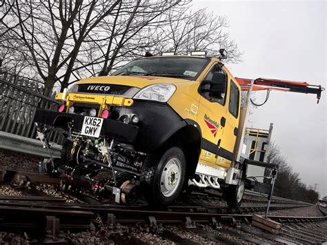 when the road with a light rail vehicle you 2345 road rail vehicle 02 iveco
