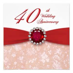 40th wedding anniversary invitation templates free 40th wedding anniversary invitation template