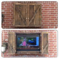 our new custom outdoor tv cabinet diy projects