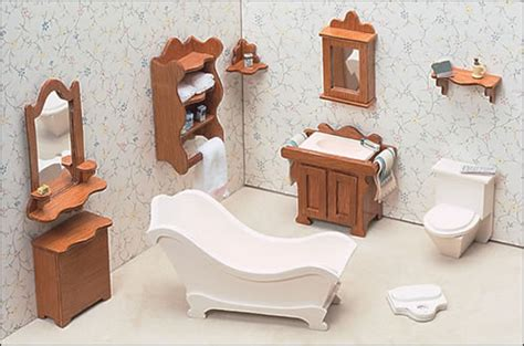 doll house furnishings unfinished dollhouse furniture bathroom