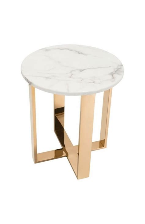 white marble end table white marble gold side table modern furniture brickell
