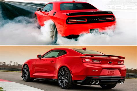 hellcat challenger totd you chevrolet camaro zl1 or dodge challenger