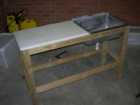 fillet table with sink diy fillet table fishtrack com