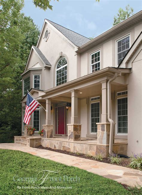 Cottage Curb Appeal - stylish front porch designs
