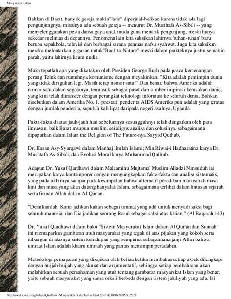 Islam Jalan Tengah Dr Yusuf Qardhawi 1 sistem masyarakat islam dalam al quran dan sunnah dr yusuf qardhawi