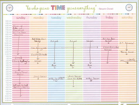 printable weekly planner with time slots 8 best images of schedule printable free printable