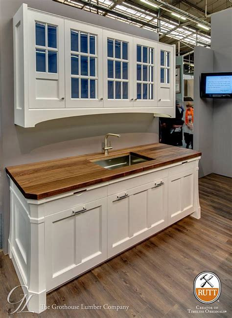 White Wood Countertops by Wood Countertops With White Cabinetry