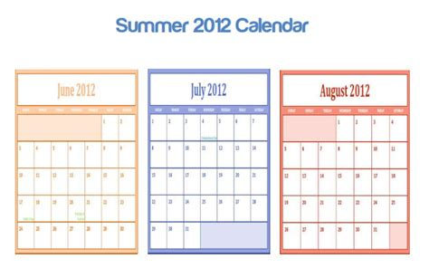 printable calendar 2015 summer 6 best images of summer printable calendar 2016 blank