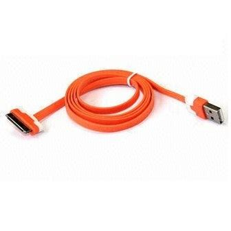 Taffware Normal Braided Charging Sync Data Cable Iphone 30 Pin 4 1m taffware flat noodle charging sync data cable for iphone 4 4s 1m orange jakartanotebook