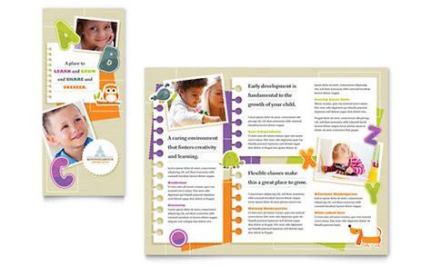 microsoft office tri fold brochure template preschool kindergarten phlet templates word