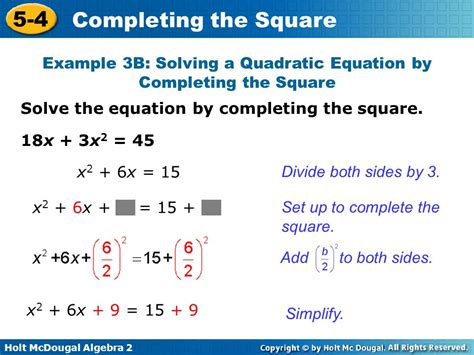 Solving Quadratic Equations By Finding Square Roots Worksheet by Solve Each Equation By Completing The Square Answers