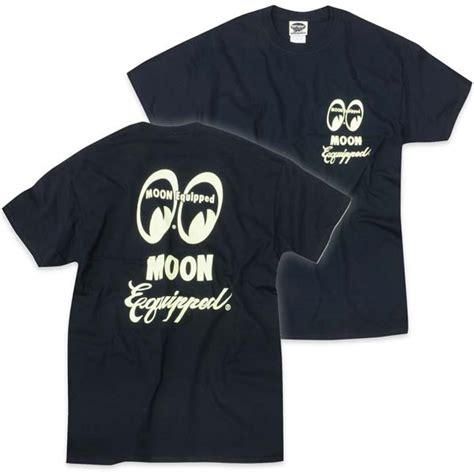 Moon Mooneyes Equipment Co White moon equipped script t shirt