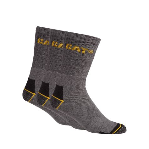 caterpillar socks uk caterpillar mens pack of three grey work socks from