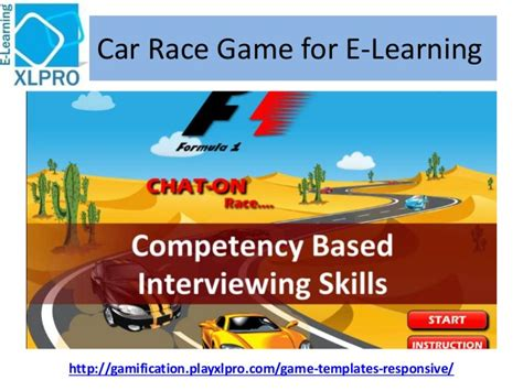 Corporate E Learning Game Template Car Race Gamification Website Templates