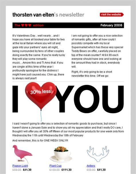 Exemple De Lettre St Valentin Newsletter Outil De Fid 233 Lisation